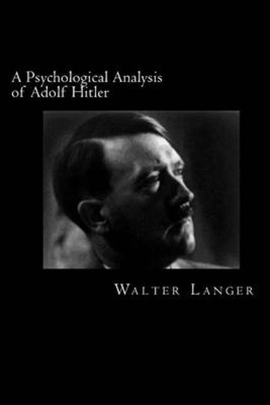 behavioral analysis of adolf hitler