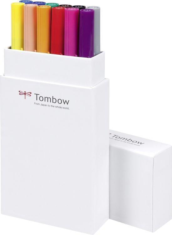 Tombow ABT Dual-Brush tekenpennen - Primaire kleuren - Set van 12