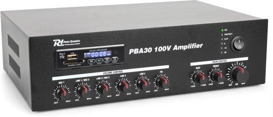 pba30 100v versterker 30w van power dynamics met bluetooth