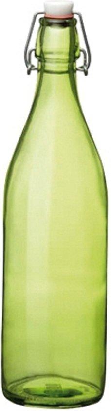 Decoratieve fles - Glas - Groen - 1L - Glas