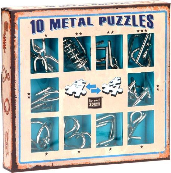 Afbeelding van het spel Eureka 10 Metal Puzzles Set Blue