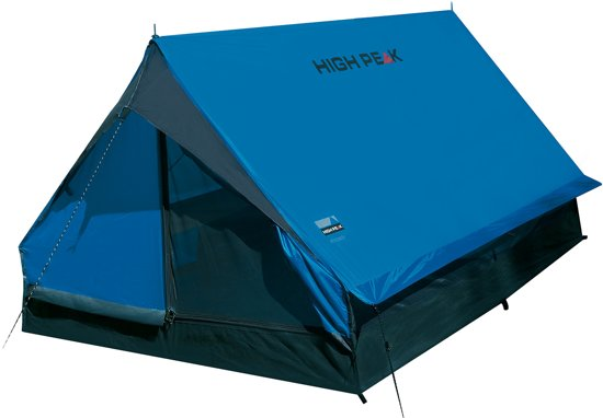 High Peak Minipack Tunneltent - 2-Persoons - Blauw