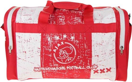 Ajax sporttas - wit/rood