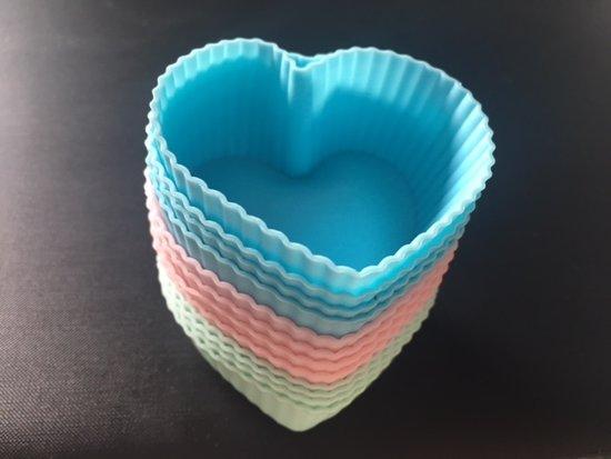 Siliconen Cupcake Vormpjes - 12 stuks - Muffin Vormpjes - Multicolor