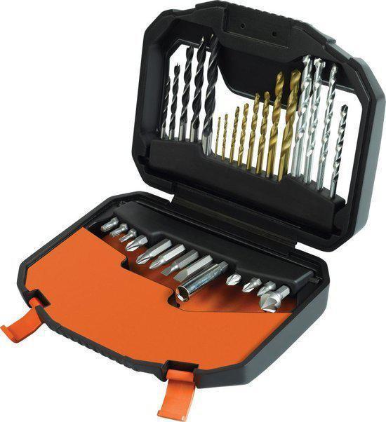 BLACK+DECKER - A7183 - 30 delige Titanium boren en bits Family set