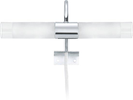 Spiegellamp Voor Badkamer : Bol.com eglo granada spiegellamp 2 lichts chroom wit helder