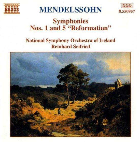 """Mendelssohn: Symphonies 1 & 5 """"Reformation"""" / Seifried"""