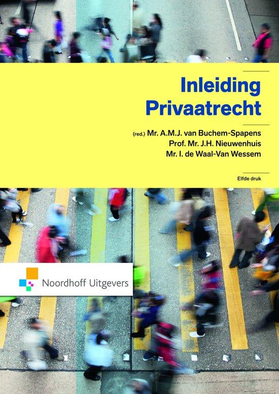 Boek cover Inleiding Privaatrecht van  (Paperback)