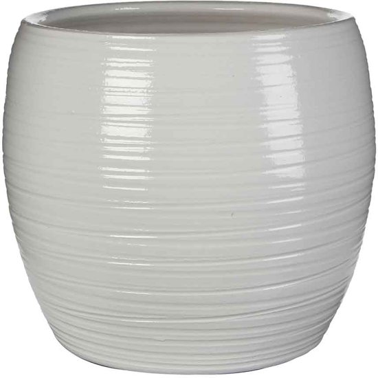 Mica Pot Rond Loomy - Wit