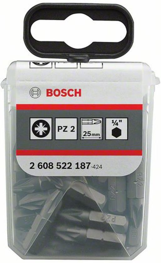 Bosch Bit Extra-Hart PH 2, 25 mm 25st