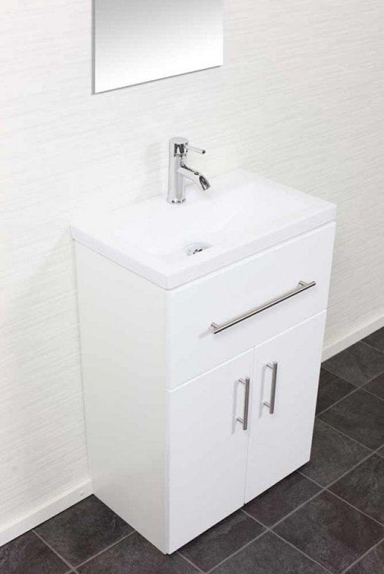 Saniclear domino slimline badkamermeubel 60 hoogglans wit - Badkamermeubels kleine ruimte ...