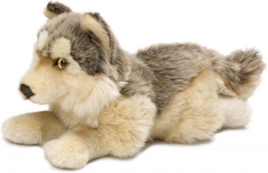 Pluche wolf knuffel 25 cm