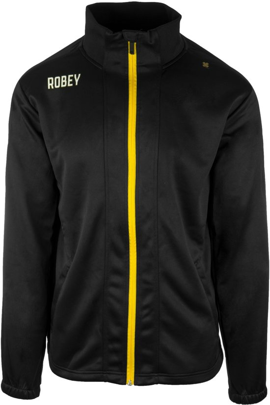 Robey Trainingsjack - Voetbaljas - Black/Yellow - Maat S