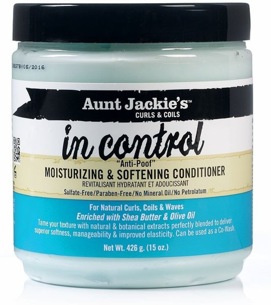 Aunt Jackies Curls & Coils In Control  Anti-Poof Moisturizing Conditioner 425 gr