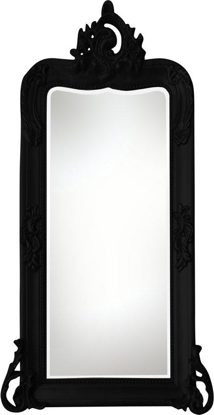 Qweens - Spiegel - Iris- zwart - buitenmaten breed 63 cm x hoog 120 cm.
