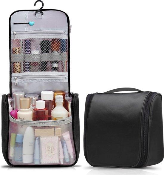 Travelsky Reis Toilettas Hanging met Haak – Travel Etui Organizer voor Toiletartikelen Kamperen & Reizen Accessoires – Toiletry Bag voor Dames en Heren – Zwart