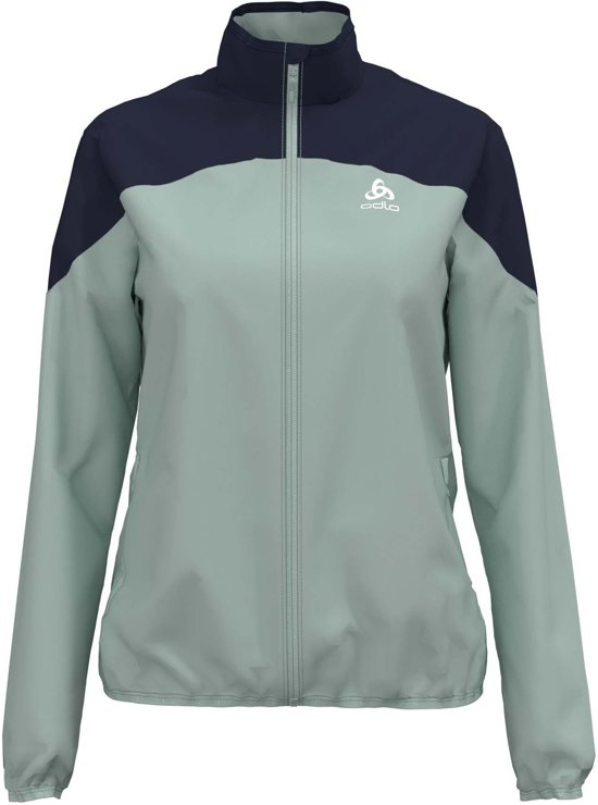 Odlo Jacket Element Light Dames Sportjas - Surf Spray-Diving Navy - Maat S