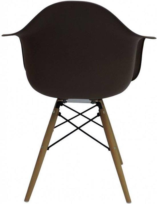Reproductie Design Stoelen.Bol Com Design Stoel Bruin Lever
