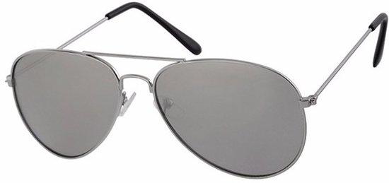 4ea02424021642 Zilveren kinder piloten zonnebril met lichte glazen
