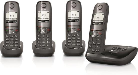 Gigaset A475A - Quattro DECT telefoon - Antwoordapparaat - Zwart
