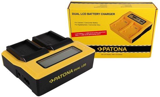 PATONA Dual LCD USB Charger for Konica Minolta Samsung NP-700 Dimage DGX50K DG-X50-K DGX50R