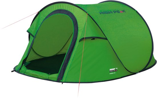 Verwonderend bol.com | High Peak Vision 3 - Pop-up Tent - 3-Persoons - Groen RA-68