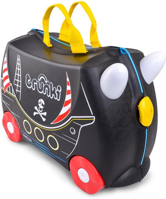 Trunki Ride-on Piraat Pedro Kinderkoffer - 46 cm - Zwart