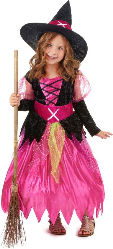 Halloween heksen kostuum voor meisjes - Verkleedkleding - 116/128