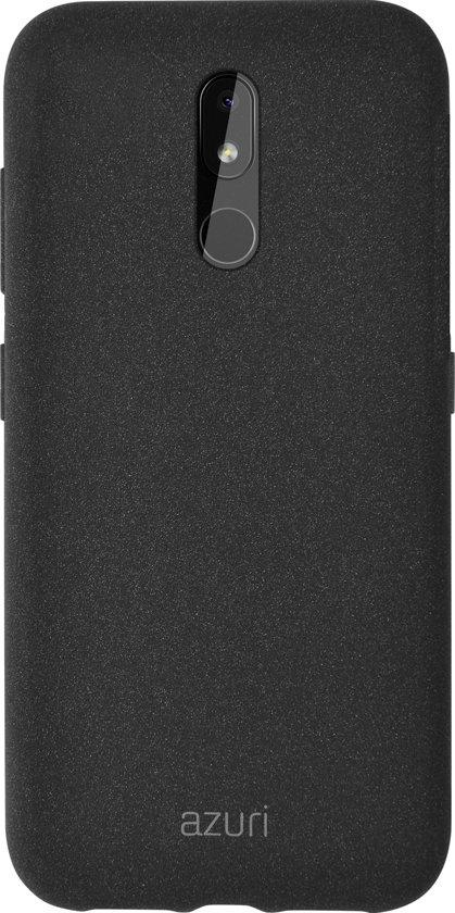 Azuri flexible cover with sand texture - zwart - voor Nokia 3.2
