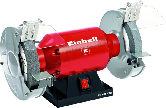 Einhell TC-BG 175 Werkbankslijpmachine - 400 W - Ø175 x Ø32 x 25 mm - Inclusief 1x grove slijpschijf (K36) & 1x fijne slijpschijf (K60)