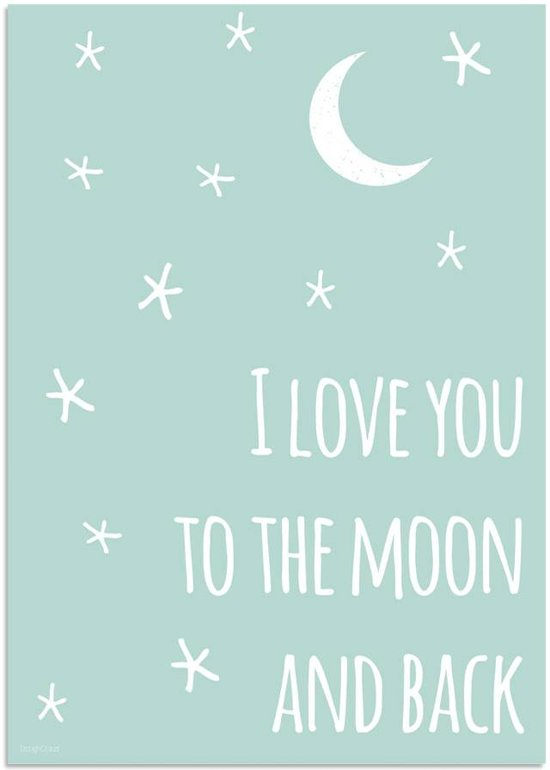 bol kinderkamer poster i you to the moon and