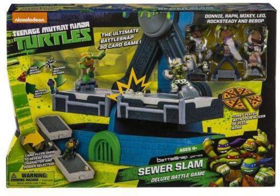 2f56aa9fb17 Teenage Mutant Ninja Turtles Battle Snap riool Slam Deluxe Battle 3D spel  met figuren