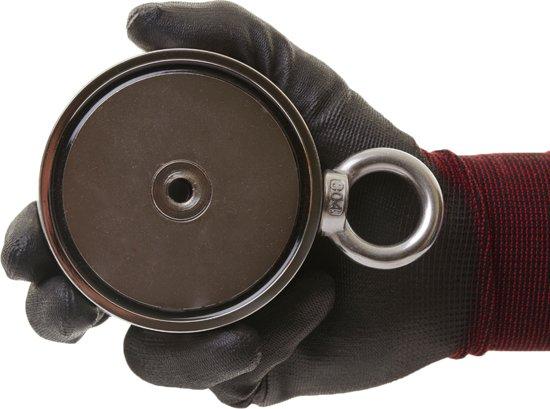 Vismagneet dubbelzijdige– 800kg vermogen – Buldog vismagneet van Magnetar