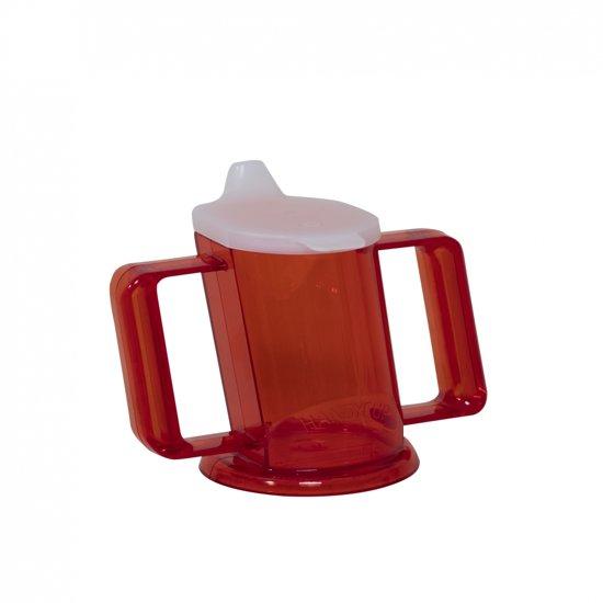 Almepro Drinkbeker Handycup met Deksel Rood