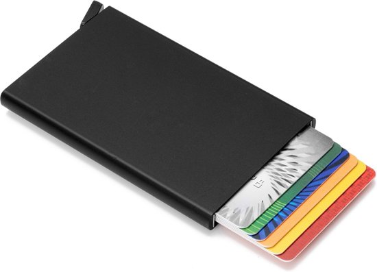 23e28ec3a09 RFID Cardprotector | Anti Skim | Creditcard Holder | Pasjeshouder |  Portemonnee | Zwart