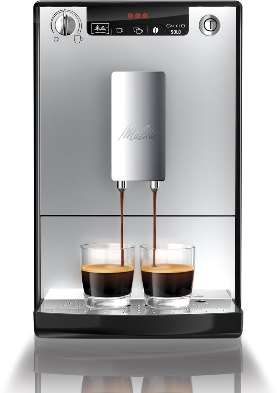 melitta caffeo solo volautomaat espressomachine zilver elektronica. Black Bedroom Furniture Sets. Home Design Ideas
