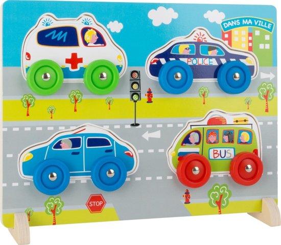 Small Foot Houten Vormenpuzzel Auto's 3d 4 Stukjes