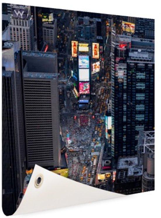 Times Square  Tuinposter 100x200 cm - Tuindoek / Buitencanvas / Schilderijen voor buiten (tuin decoratie) XXL / Groot formaat!