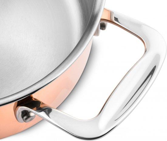 DUCQ lage kookpan koper Ã20cm (ook inductie)
