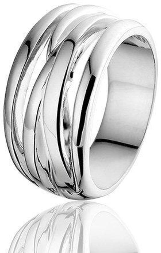 Montebello Ring Isabelle - Dames - Zilver Gerhodineerd - 11 mm - Maat 50 - 16