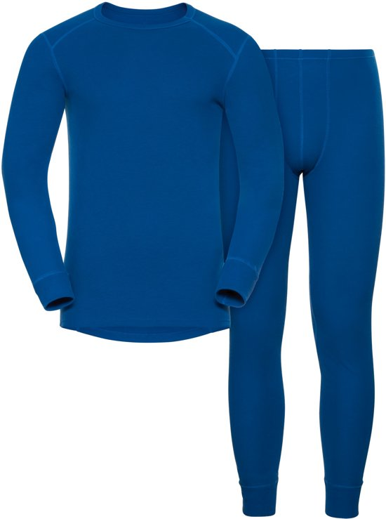 Odlo Set Active Originals Warm Sporttop Heren - Energy Blue