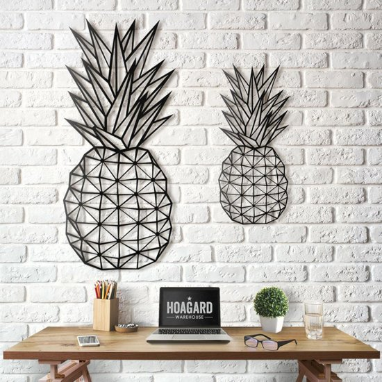 Muurdecoratie Voor Keuken.Metalen Ananas Wanddecoratie Muurdecoratie 25cm X 55cm Metal Pineapple Wall Decor Hoagard Geometrisch Ontwerp Muurdecoratie Keuken