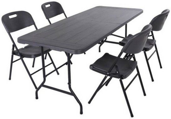 Design Tafel Stoelen : Bol inklapbare tafelset met unieke houtlook design tafel