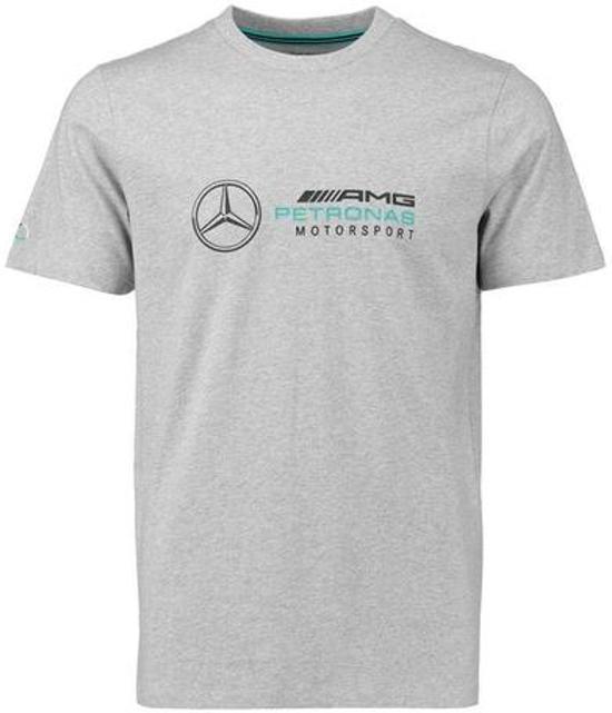 shirt M F1 Grijs T Mercedes Logo YEeWD29IH