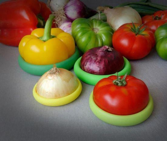 Food huggers - 4 stuks - Fresh Greens - Siliconen Deksels - Vershoudbakje -  Mini Tupperware