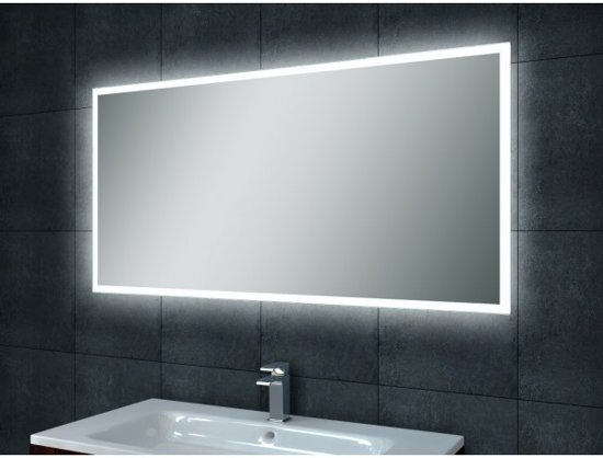 quatro spiegel met dimbare led verlichting 100 x. Black Bedroom Furniture Sets. Home Design Ideas