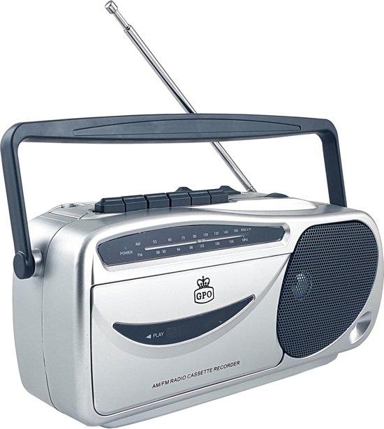 GPO 9401 Draagbare Retro AM/FM Radio & Cassettespeler