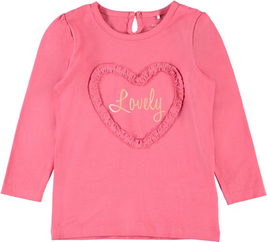 Name it Meisjes T-shirt - Sunkist Coral - maat 92