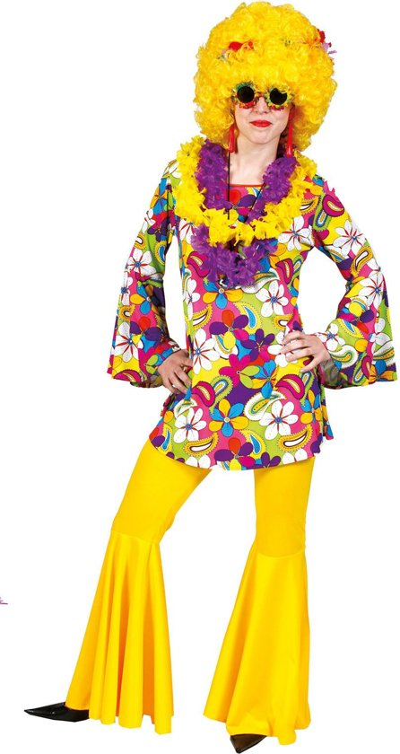 Flower Power Hippie Blouse | Vrouw | Maat 40-42
