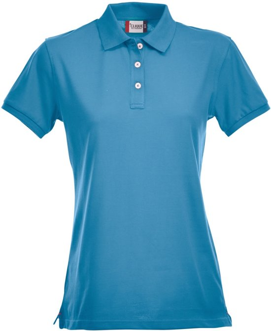 Clique Premium Dames Polo Turquoise maat L